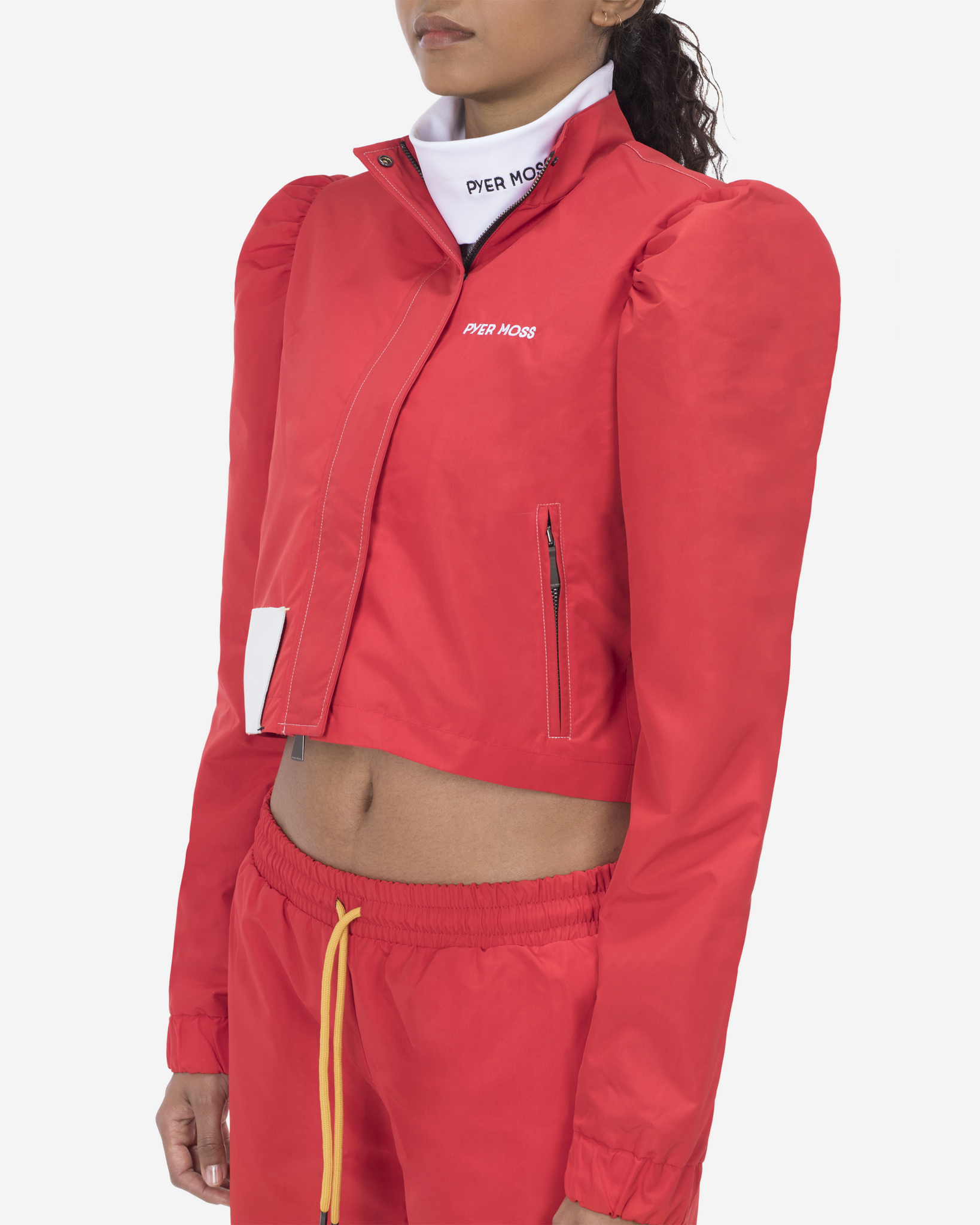 Puff Sleeve Track Jacket