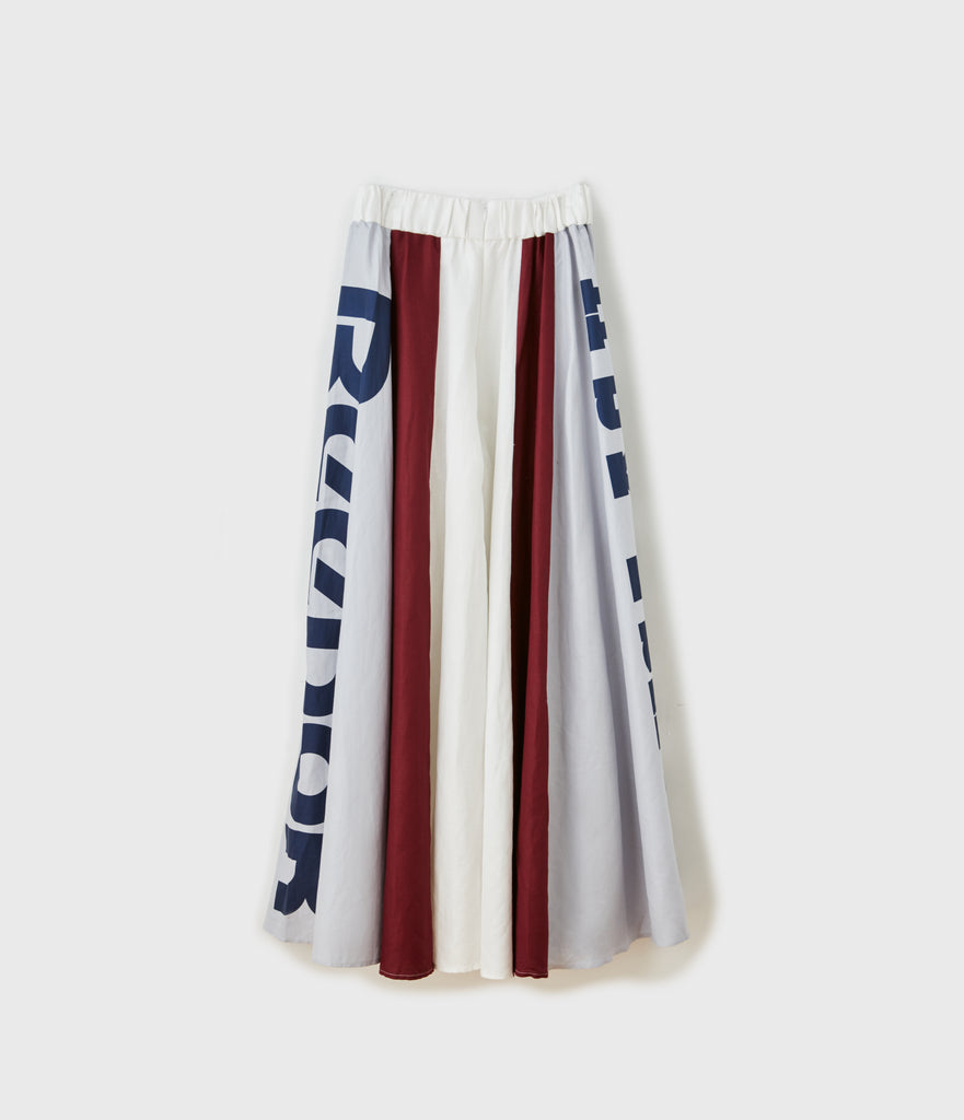 Super Wide Logo Printed Rodeo Pant