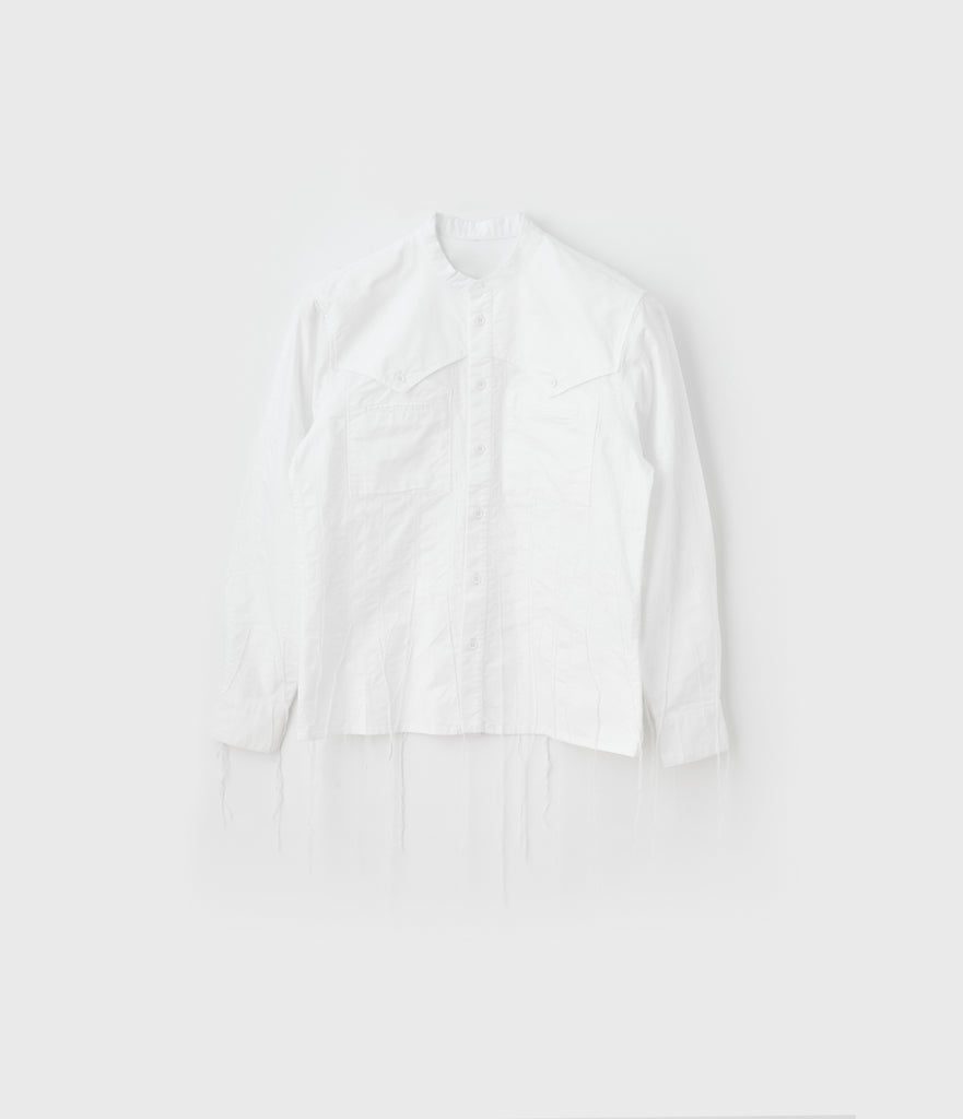 Running-stitch Western Dress Shirt