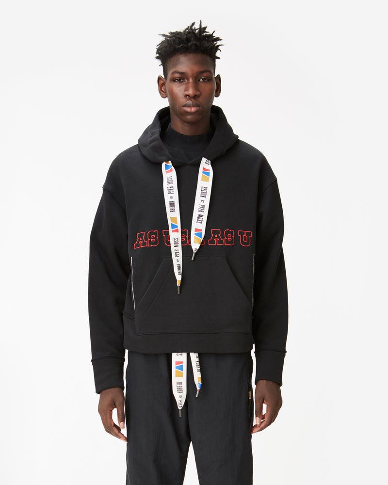 """AS USA AS U"" Boxy Hooded Sweatshirt"