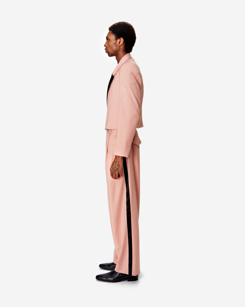 Coral Pleated Suit Pant