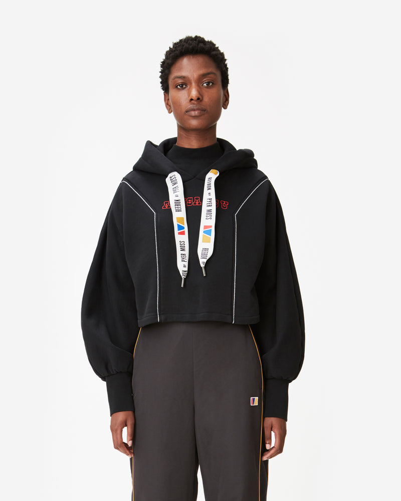 """AS USA AS U"" Cropped Hooded Sweatshirt"