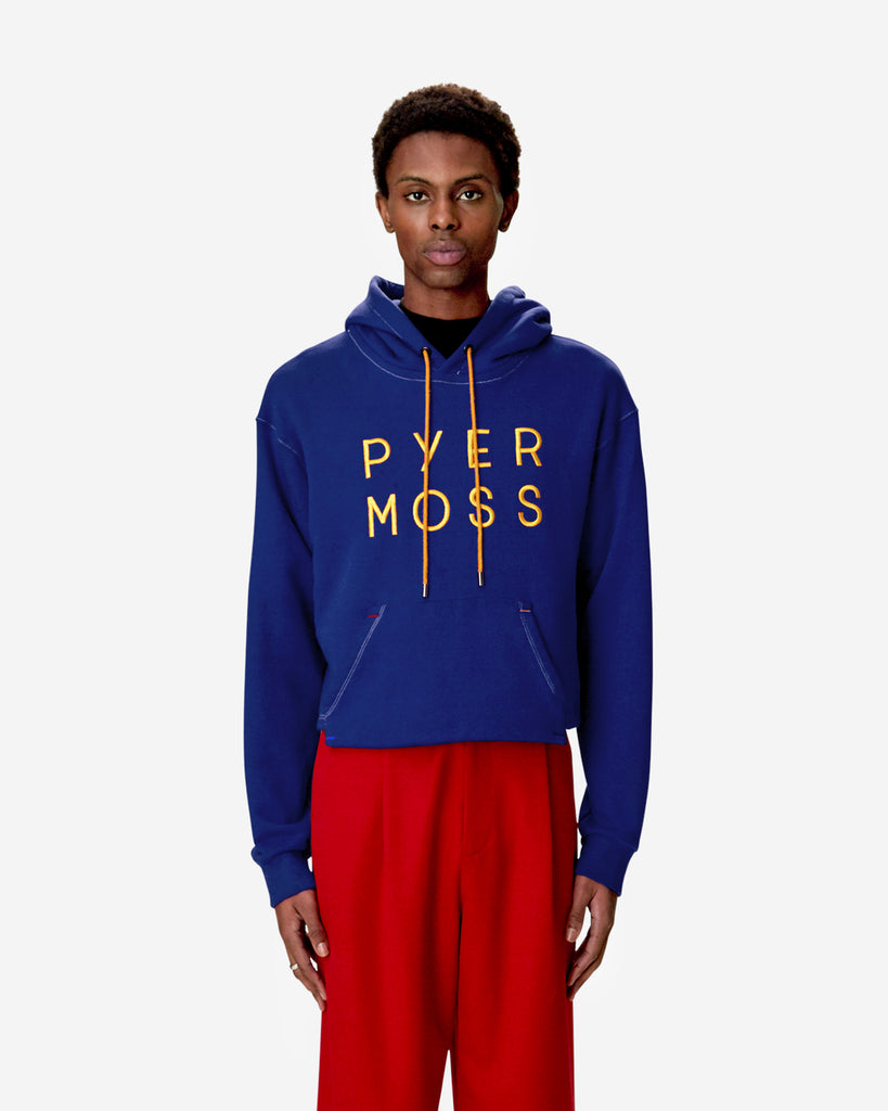 Classic Logo Cropped Hooded Sweatshirt