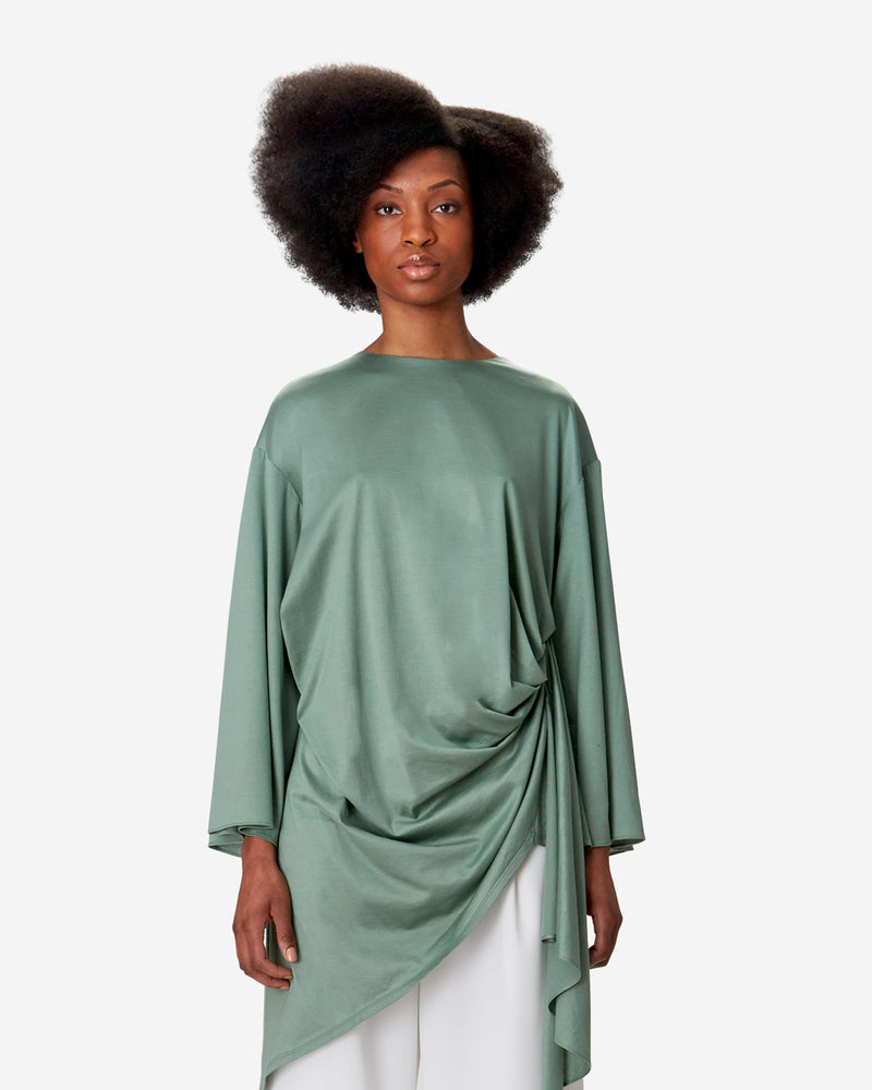 Curtain Draped Blouse