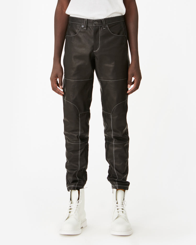 """Phantom"" Quilted Leather Trouser"