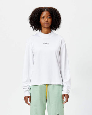Classic Logo Long-Sleeve Mock Neck Tee