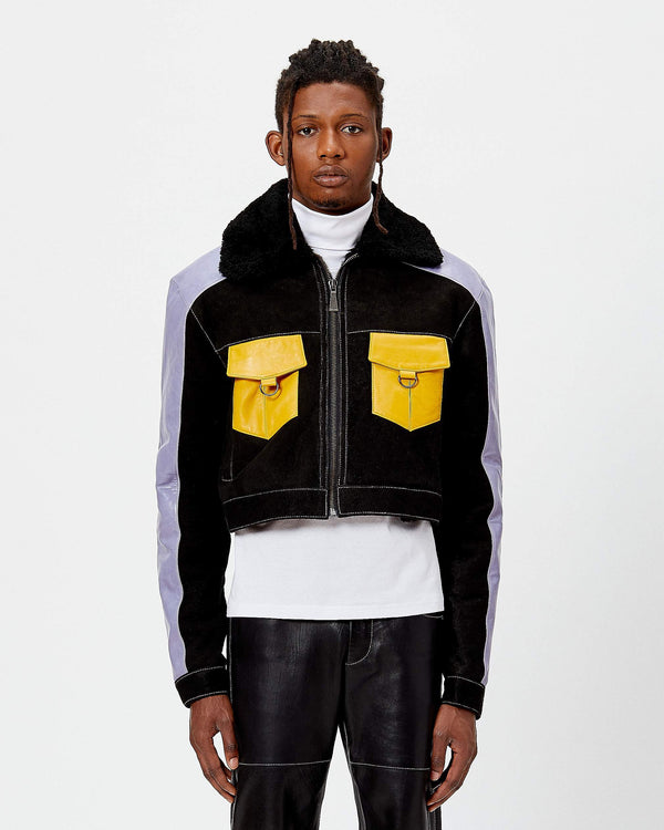 Cropped Honcho Shearling Jacket