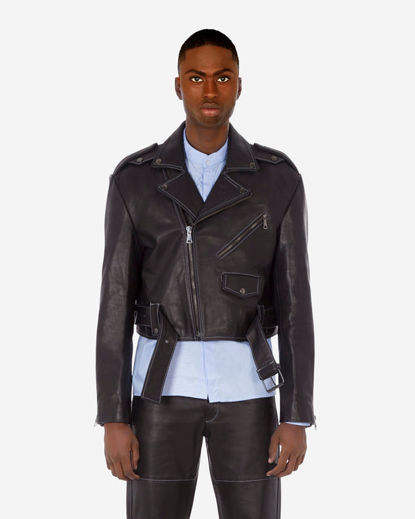 Cropped Killer Leather Jacket