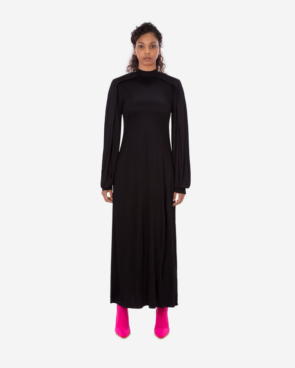 Fold-Over Sleeve Maxi Dress