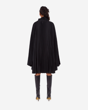 Pleated Funnel Neck Top