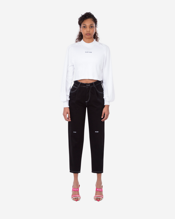 Wrap Long-Sleeve Cropped Shirt