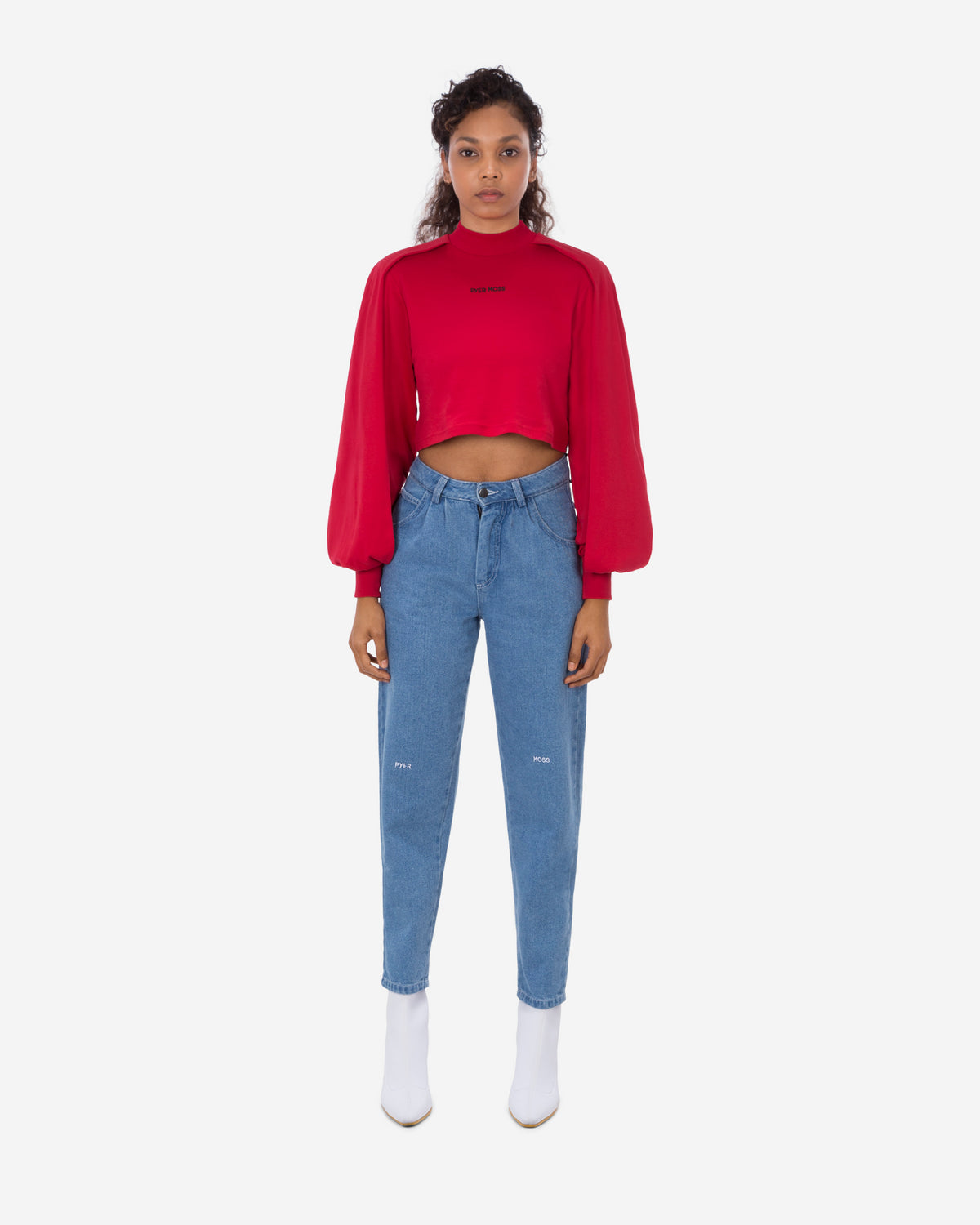 Wrap Sleeve Cropped LS Shirt