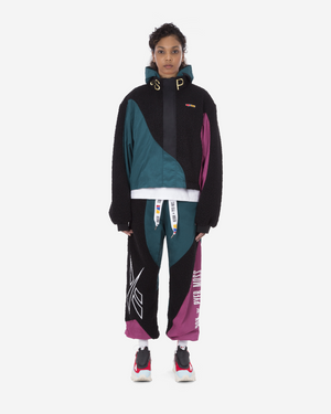 Cropped Sherpa Nylon Windbreaker