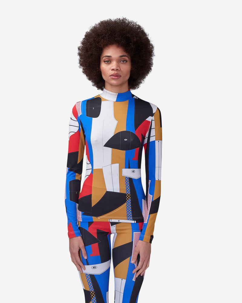 Derrick Adams Allover Print Turtleneck