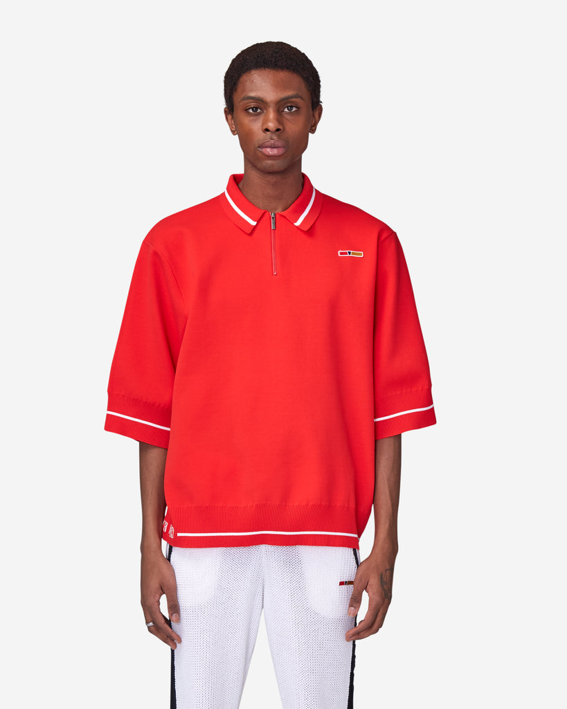 Oversized Zip Polo