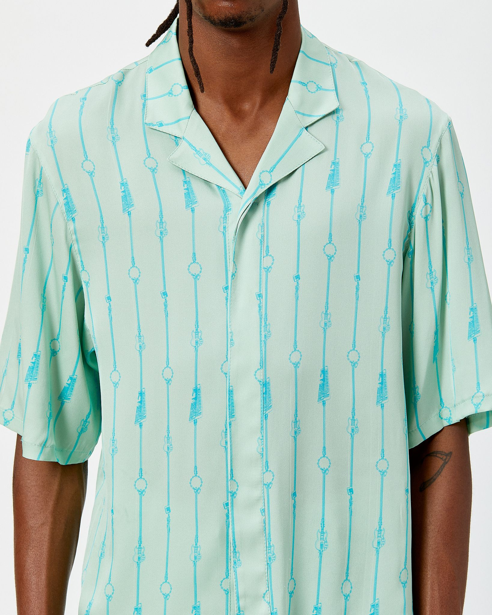 Silk Shirt with Piano Stripe