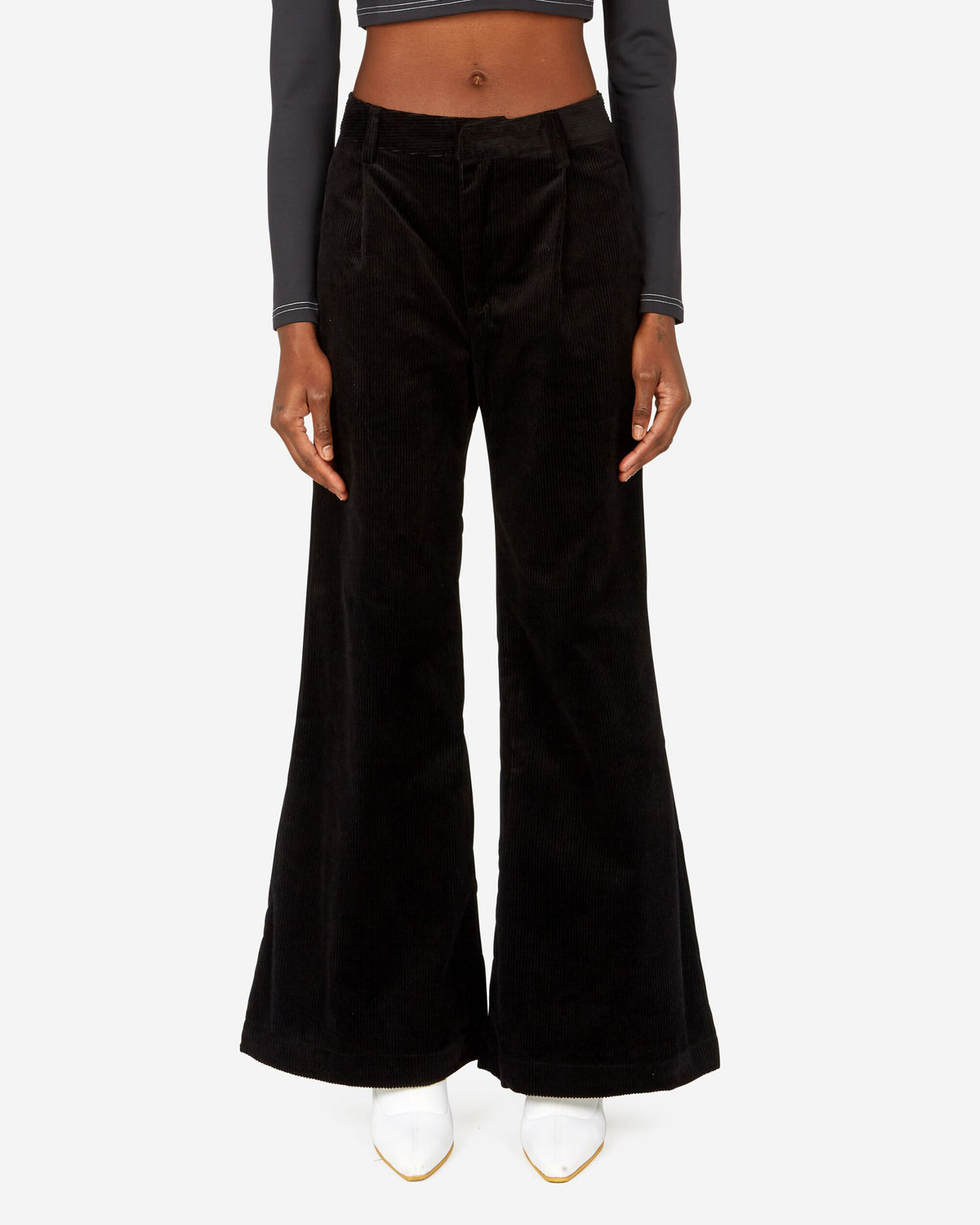 Flared Leg Corduroy Trouser