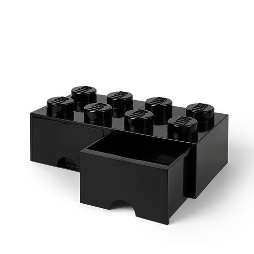 LEGO Brick Drawer 8 Knobs (2 DRAWERS)