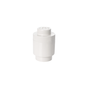 LEGO Storage Brick 1 Round White