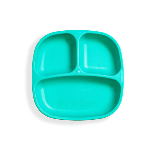 RePlay Divided Plate - Aqua