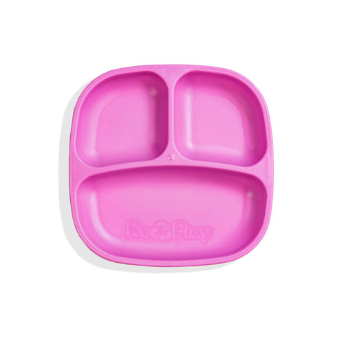 RePlay Divided Plate - Bright Pink