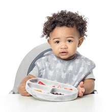 Silicone First Feeding Set with Lid & Spoon - Marble