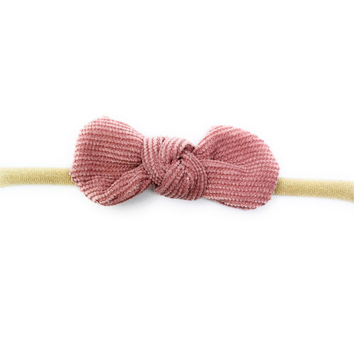 Headband Corduroy Knot Dusty Rose