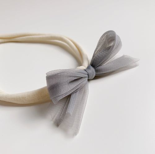 Tulle Headband - Willow - Grey