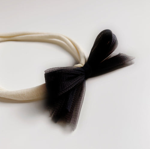 Tulle Headband - Willow - Black