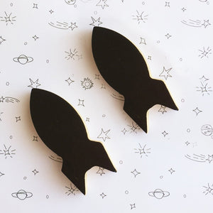 Rocket Wall Hook - Black