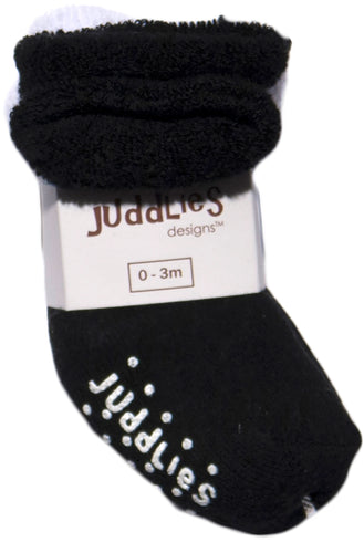 2pk Infant Socks - Black & White