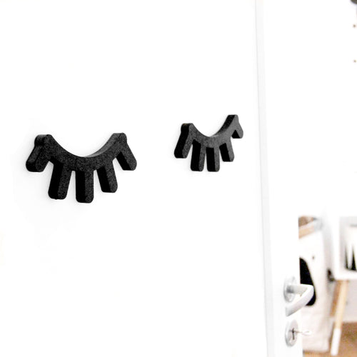 Wooden Eyelashes - Black