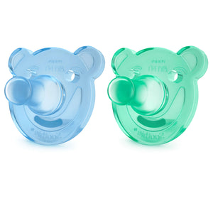 Soothie Shapes pacifier - BLUE/ GREEN - 0-3m