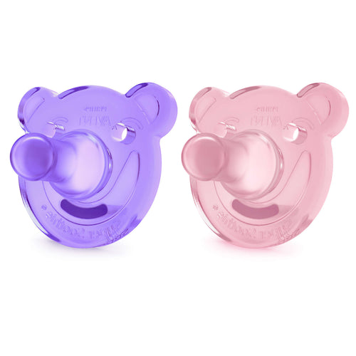 Soothie Shapes pacifier - PURPLE/ PINK - 0-3m