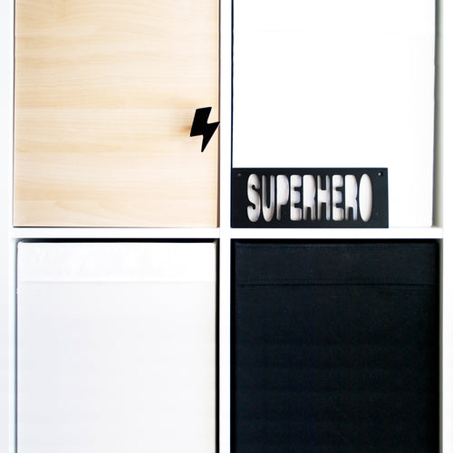 Wooden Superhero - Black