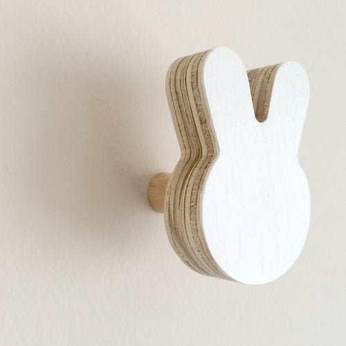 Bunny Wall Hook - White