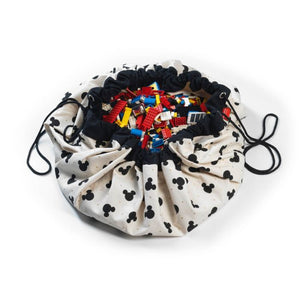 Mickey black toy storage bag