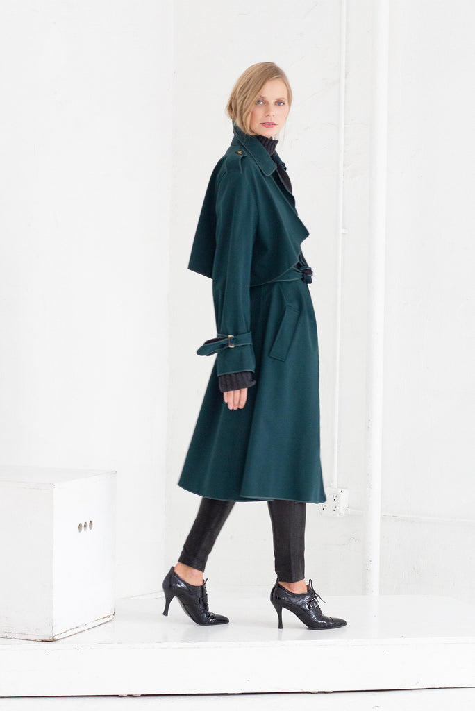 SASHA TRENCH COAT IN GREEN