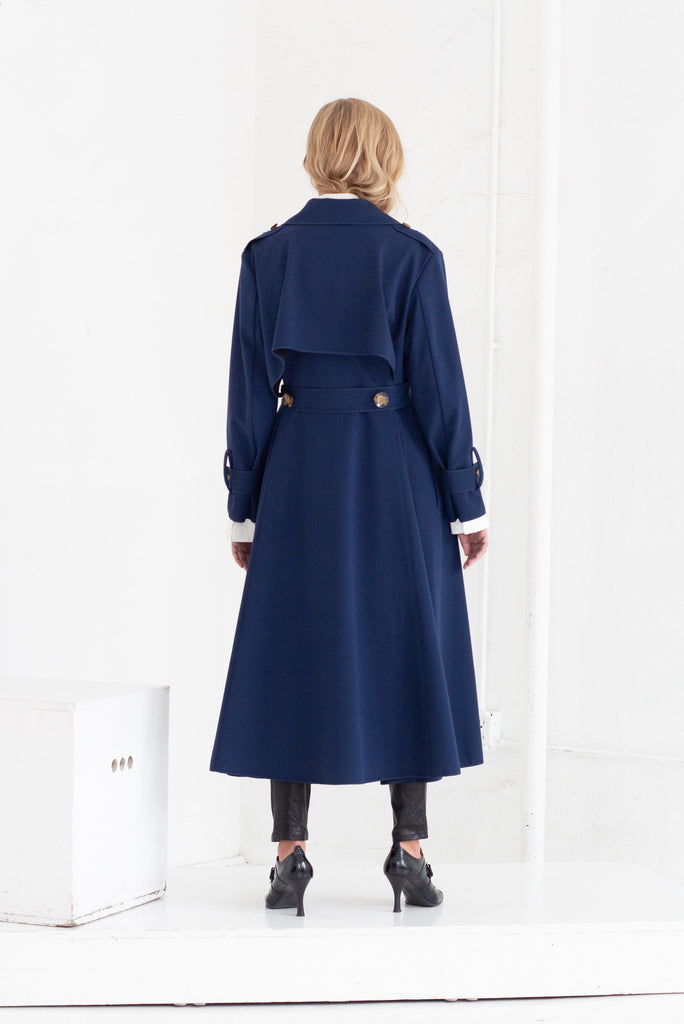 DYLAN TRENCH COAT IN NAVY