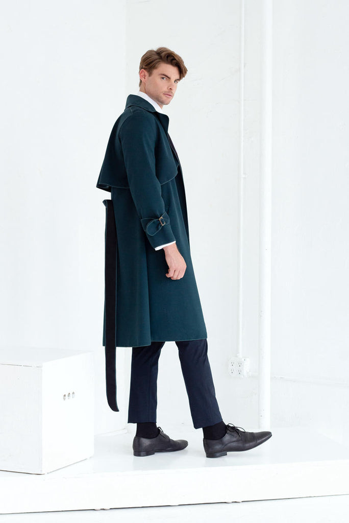 SASHA TRENCH COAT IN EMERALD