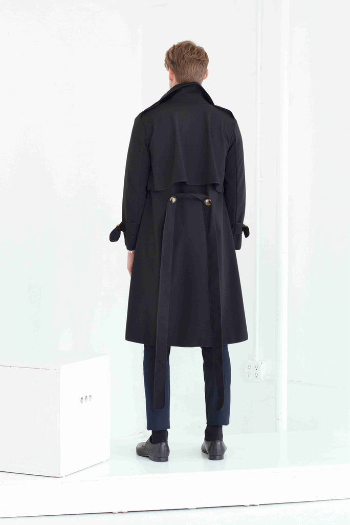SASHA TRENCH COAT IN Black