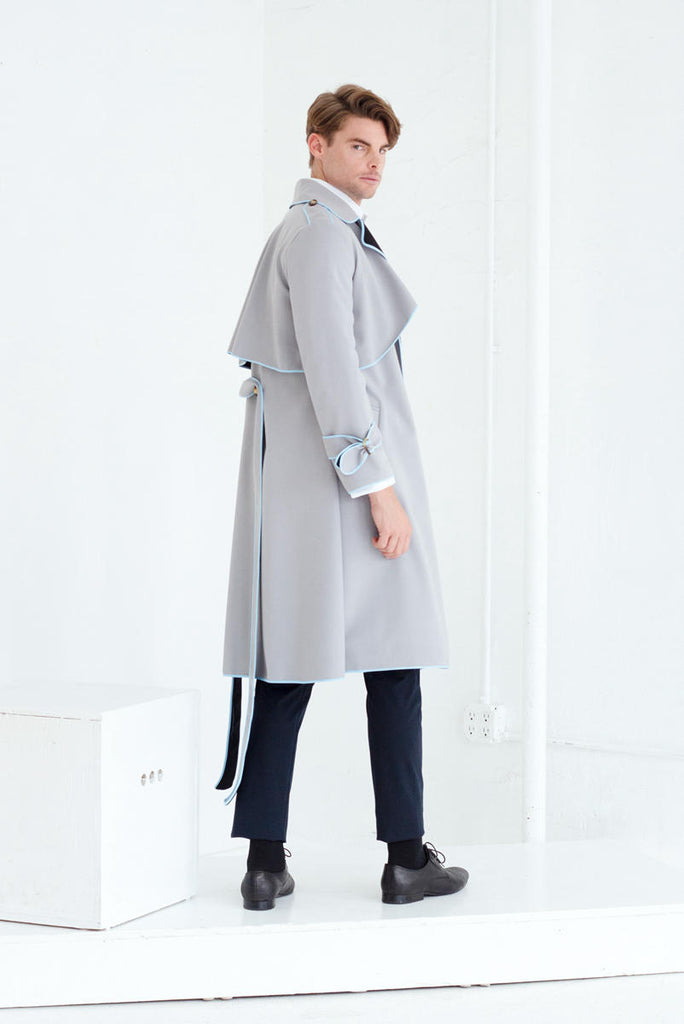 SASHA TRENCH COAT IN DOVE GREY