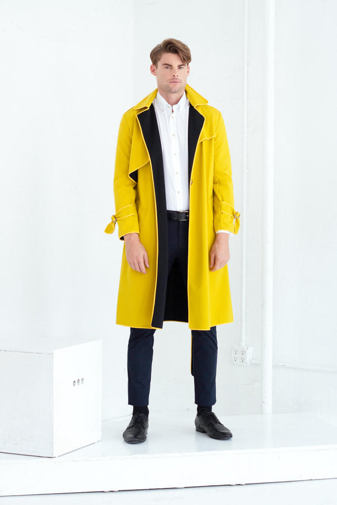SASHA TRENCH COAT IN GINGER YELLOW