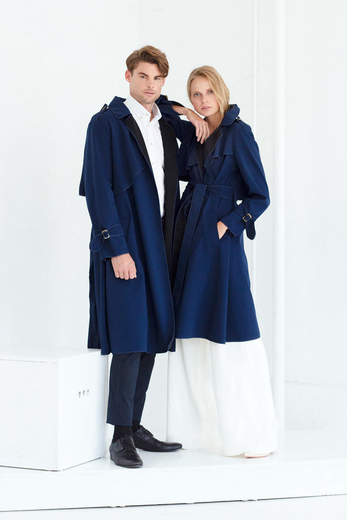 SASHA TRENCH COAT IN NAVY