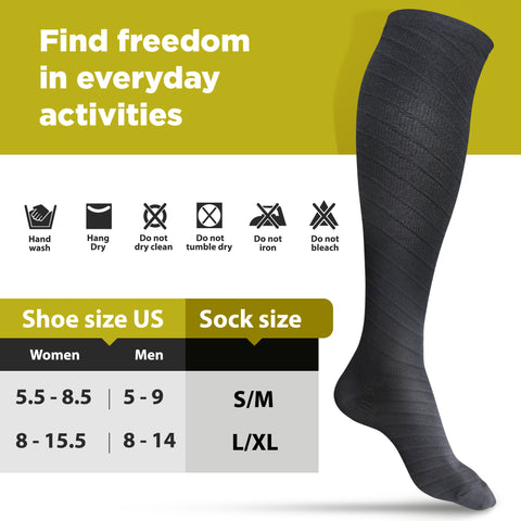 Black Compression Socks size