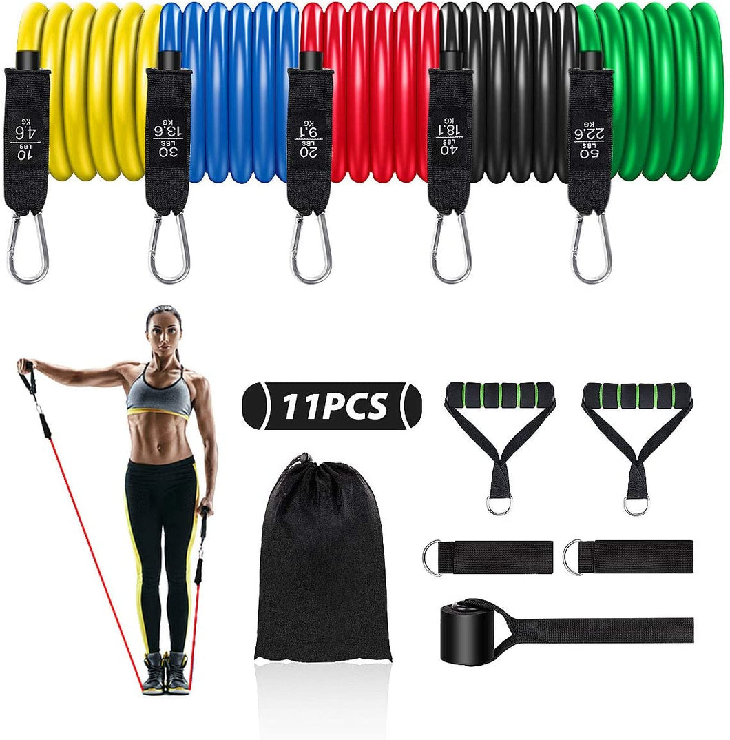 4well Resistance Bands Set 11pcs