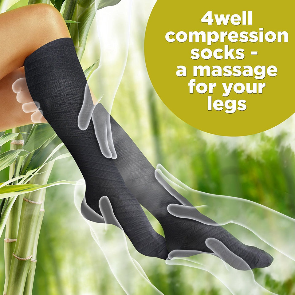 Black Compression Socks - 4well