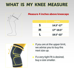 Size Guide Ultimate Knee Compression Support Sleeve - 4well
