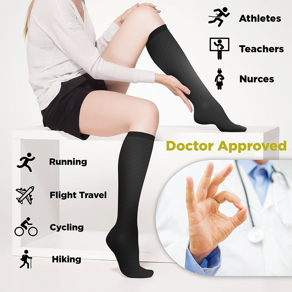 Doctor Approved Black Compression Socks - 4well
