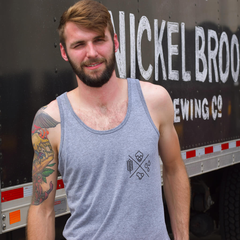 Grey Beer Elements Tank Top from Nickel Brook